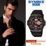 Diskon Synoke 66866 Digital Perhiasan Olahraga Renang Militer Kuat Tahan Lama Laki Laki Clock Jam Tangan Yang Tahan Air Jeruk Akhir Tahun