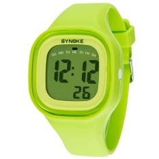 Spesifikasi Wanita Synoke 66896 Tahan Air Olahraga Watch Dingin Fashion Jam Tangan Digital Hijau Lengkap