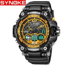 Spesifikasi Synoke 67386 Sport Led Digital Watch Pria Olahraga Jam Tangan Tahan Air Outdoor Jam Tangan Internasional Murah