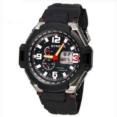 Toko Synoke 67606 Waterproof 50 M Outdoor Kasual Pria Sport Wristwatch Watch Merah Tiongkok