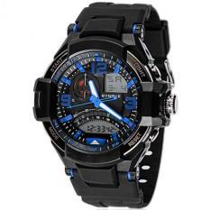 Cara Beli Synoke 67876 Jam Tangan Pria Sport Analog Digital Silikon Pu 54 Mm Anti Air 50 M Renang Water Resistant Watches