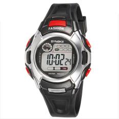 Harga Synoke 99299 Tahan Air Pu Anak Kulit Jam Tangan Olahraga Siswa Merah Hitam Dan Spesifikasinya