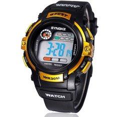 Spesifikasi Synoke Jam Tangan Anak Hitam Gold Rubber Strap Sport Digital Watch Dan Harga