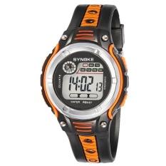SYNOKE Waterproof Children Boys Digital LED Sports Alarm Date Watch Orange - intl