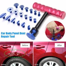 Review Terbaik T Bar Bodi Mobil Panel Paintless Dent Removal Repair Lifter Tool Merah 18 Pcs Puller Tabs Intl