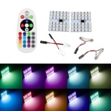Jual Beli T10 Festoon Ba9S 36 Led Rgb Car Dome Light Remote Controller Intl Tiongkok