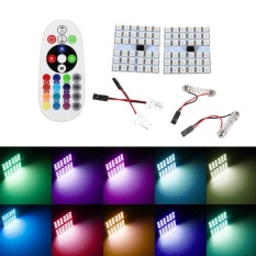 Diskon Besart10 Festoon Ba9S 36 Led Rgb Car Dome Light Remote Controller Intl