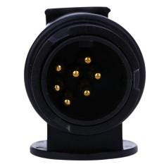 T22809 13 Sampai 7 Pin 12 V 12N Standar Eropa Round Hole TrailerPlug Truk Kabel Konektor N Jenis-Internasional