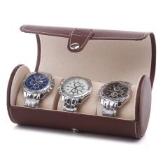 Tabung Bulat Jam Tangan Tas Kotak Koleksi Jam Tangan Penyimpanan Kotak Other Diskon