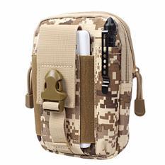 Tactical Army Molle Tas Pinggang Waist Bag Dompet HP Pria - Accu Coklat