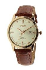 Tajima Analog 3096 GL 07- Jam Tangan Pria - Leather - Coklat