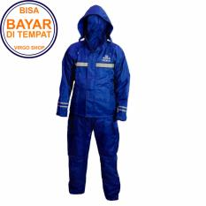 Takachi Jas Hujan 2 Rangkap Raincoat Original Bahan Tebal Seperti Axio - Biru - Size M