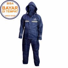 Takachi Jas Hujan 2 Rangkap Raincoat Original Bahan Tebal Seperti Axio - Biru Tua