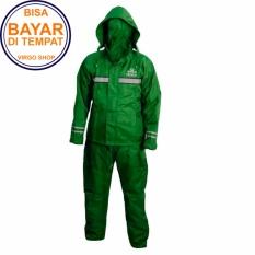 Takachi Jas Hujan 2 Rangkap Raincoat Original Bahan Tebal Seperti Axio - Hijau Tua- Size M puzzisyukur
