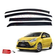 Talang Air Mobil Agya / Car Side Visor Agya Acrylic Premium - Model Slim + 3M