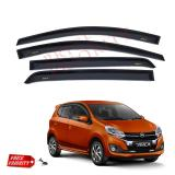 Model Talang Air Mobil Ayla Car Side Visor Ayla Acrylic Premium Model Slim 3M Terbaru