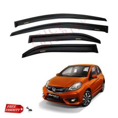 Talang Air Mobil Brio / Car Side Visor Brio Acrylic Premium - Model Slim + 3M