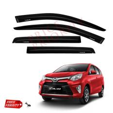Talang Air Mobil Calya / Car Side Visor Calya Acrylic Premium - Model Slim + 3M