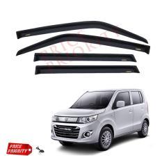 Talang Air Mobil Wagon R / Car Side Visor Wagon R Acrylic Premium - Model Slim + 3M