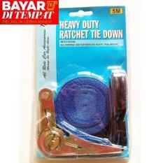 Review Tali Pengikat Barang Lebar 1 Inc X Panjang ±5M Ratchet Tie Down Set Aslb