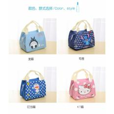 Tas Bekal Makan Siang Anak / Lunch Bag / Cooler Bag Motif Kartun - INSULATED Thermal FREE Ice Jelly