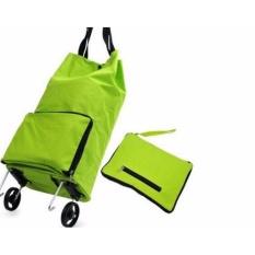 Tas Belanja Lipat Roda Serbaguna Shopping Trolly Troly Traveling Bag