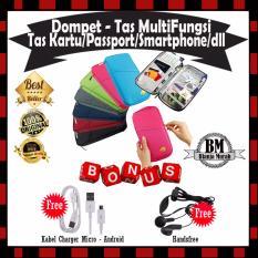 Harga Tas Dompet Multifungsi Dompet Passport Kartu Atm Credit Card Smartphone Serba Guna Gratis Kabel Charger Micro Android Handsfree Trends Dki Jakarta