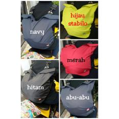 Tas helm / sarung helm anti air model ransel / gemblok dgn tutup resleting unt kyt mds nhk ink arai agv