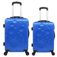 Tas Koper Polo Twin - Fiber ABS 1 Set Size 20 & 24 Inch 6619 Blue