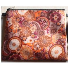 Tas Kosmetik Fashion Motif Batik for Female - Cokelat