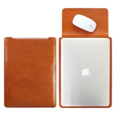 Harga Tas Laptop Sleeve Case Macbook Pro Retina Air 13Inch Microfiber Leather Softcase Brown Asli Cooltech