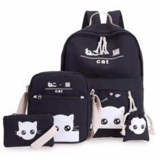 Tas Paket Sekolah Tas Ransel Anak 4 in 1 Tas Multifungsi Tas Sekolah Cat White 40x38x17