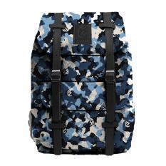 Tas Punggung Backpack Ransel Rucksack Laptop 14 Inch Loreng Canvas Denim 14 Liter Pria Wanita Jawa Barat Diskon