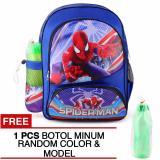 Jual Tas Ransel Anak Amazing Spider Man The American Flag Sch**l Bag Tas Sekolah Anak Blue Free Botol Minum Tas Mania Asli