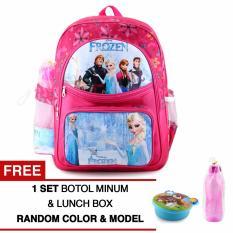 Beli Tas Ransel Anak Frozen Anna And Elsa Glorious Pink Sch**l Bag Tas Sekolah Anak Pink Free Botol Minum Lunch Box Tas Anak Tas Sekolah Tas Anak Karakter Online Terpercaya