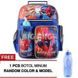 Iklan Tas Ransel Anak Spider Man Great Power Sch**L Bag Tas Sekolah Anak Blue Free Botol Minum Tas Anak Tas Sekolah Tas Anak Karakter
