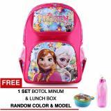 Review Tas Ransel Anak Frozen Anna Elsa Autumn Pink Sch**l Bag Tas Sekolah Anak Raincover Free Botol Minum Lunch Box Random Model Color Tas Mania Di Jawa Barat
