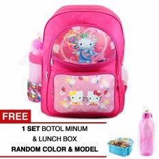 Spesifikasi Tas Ransel Anak Hellokitty Fairy Tales Sch**l Bag Tas Sekolah Anak Pink Free Botol Minum Lunch Box