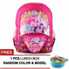 Review Tas Ransel Anak Little Pony Birthday Girls Sch**l Bag Tas Sekolah Anak Pink Free Lunch Box