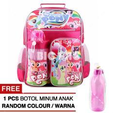 Harga Tas Ransel Anak My Little Pony Friendship Stories Sch**l Bag Tas Sekolah Anak Pink Free Botol Minum Random Model Color Baru