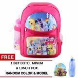 Penawaran Istimewa Tas Ransel Anak My Little Pony Party Of One Sch**l Bag Tas Sekolah Anak Pink Free Botol Minum Lunch Box Terbaru