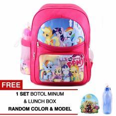 Jual Tas Ransel Anak My Little Pony Party Of One Sch**L Bag Tas Sekolah Anak Pink Free Botol Minum Lunch Box Online Di Jawa Barat
