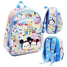Tas Ransel Anak Sekolah PG Tsum Tsum Full Motif LB - Blue / tas ransel anak TK / tas sekolah anak perempuan / tas sekolah anak-anak / tas motif full murah
