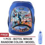 Ulasan Tas Ransel Anak Tobot Hello Carbot Sch**l Bag Tas Sekolah Anak Free Botol Minum Random Color Model