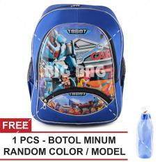 Jual Beli Online Tas Ransel Anak Tobot Hello Carbot Sch**l Bag Tas Sekolah Anak Free Botol Minum Random Color Model