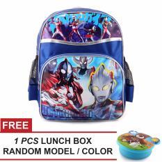 Jual Tas Ransel Anak Ultramen Superrior Sch**L Bag Tas Sekolah Anak Blue Free Lunch Box Random Model Color Ori
