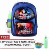 Tas Ransel Anak Ultramen Ultra Galaxy Sch**L Bag Tas Sekolah Anak Blue Free Botol Minum Lunch Box Random Model Color Tas Mania Diskon 50