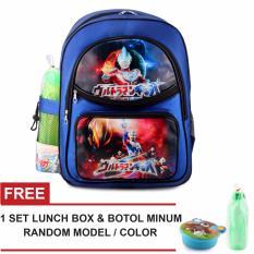 Iklan Tas Ransel Anak Ultramen Ultra Galaxy Sch**l Bag Tas Sekolah Anak Blue Free Botol Minum Lunch Box Random Model Color
