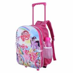 Catenzo Junior Tas Ransel / Back Pack RodaTroly Anak Perempuan Dolby-Pink Comb