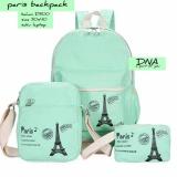 Jual Tas Ransel Backpack Sekolah Anak 3 In 1 Motif Paris Satu Set